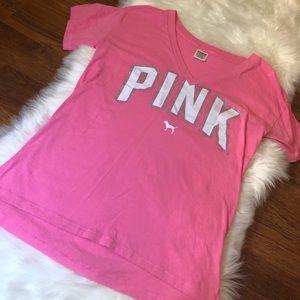 PINK VS pink tee